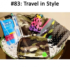Oral B Toothbrush, Camo Travel Set, Rainbow Scarf, Journals  Total Basket Value: $93.00