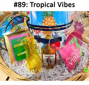 Pint of Captain Morgan Rum, 2 Thirty one Storage Bins, Planter Container, Tupperware Bowl - Large pink, Coloring Book, Pineapple Party Supplies, Subway Gift card  Total Basket Value: $159.00