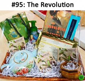 Book - The Revolution of Marina M, 2 Gift Cards: Sy Thai Shores, Tea pot and Tea Green Asian Purse, Gentle Foam Autumn Hand Soap, Vera Bradley Pen, Chico's Green and Wood Bracelet  Total Basket Value: $131.00